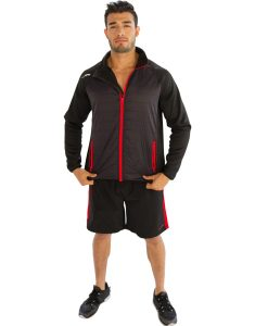 Buy Men's Black Jacket With Red Borders From Gym Clothes Store in USA & Canada