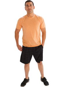 Buy Light Brownish Peach Half-Sleeve Tee From Gym Clothes Store in USA & Canada