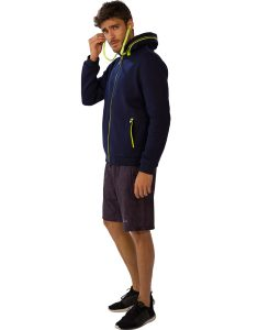 Buy Men's Blue Jacket With Green Drawstrings From Gym Clothes Store in USA & Canada