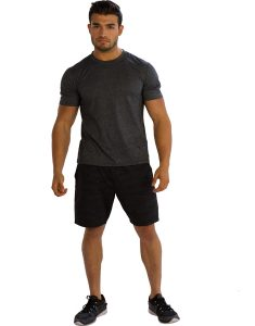 Buy Mens Dark Grey Half-Sleeve Tees From Gym Clothes Store in USA & Canada