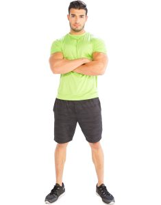 Buy Neon Green Half Sleeve Men's T-Shirt From Gym Clothes Store in USA & Canada