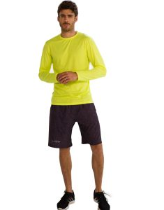 Buy Neon Yellow Full Sleeve T-Shirt for Men From Gym Clothes Store in USA & Canada