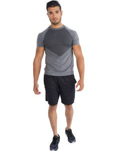 Buy Patched Half Sleeve Tee From Gym Clothes Store in USA & Canada