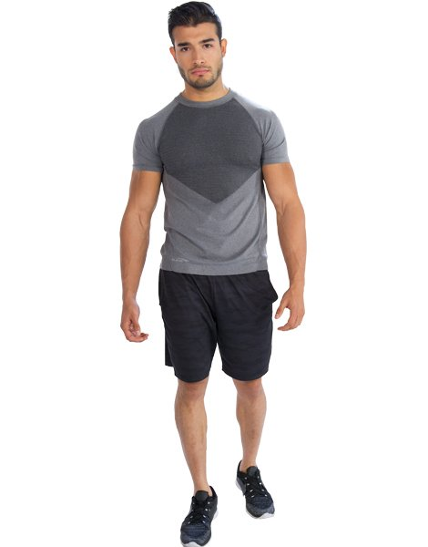 wholesale patched half sleeve tee from gym clothes