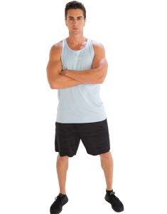 Buy Powdered Sky Blue Tank Tee for Men From Gym Clothes Store in USA & Canada