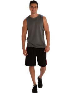 Buy Red Bordered Black Gym Shorts for Men From Gym Clothes Store in USA & Canada