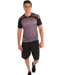 Buy Tri-Colored Half Sleeve Mens T-Shirt From Gym Clothes Store in USA & Canada