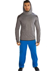 Electric Aqua Blue Gym Pants for Men Online