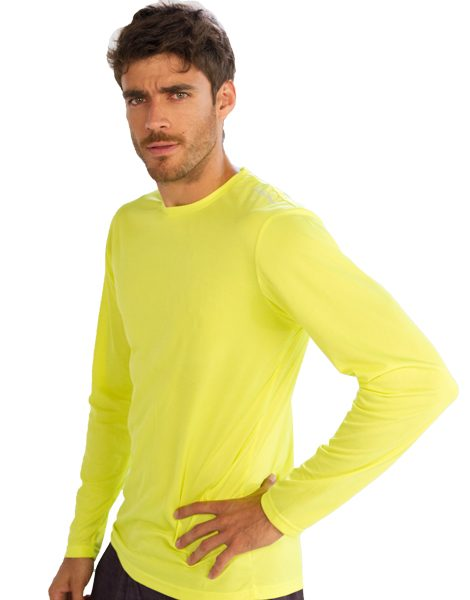 wholesale neon yellow full sleeve t shirt for men from gym