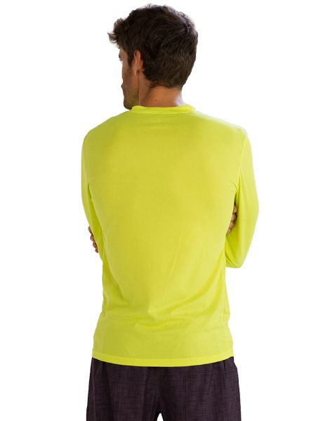 Wholesale neon yellow full sleeve t shirt for men from gym for Bulk neon t shirts
