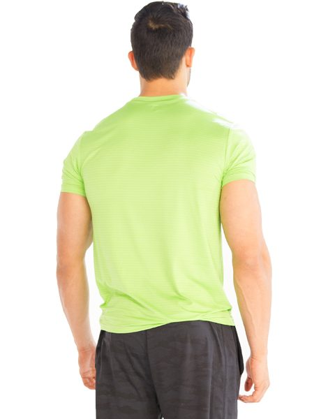 Wholesale neon green half sleeve men s t shirt from gym for Bulk neon t shirts