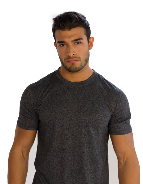 Mens Dark Grey Half Sleeve Tees