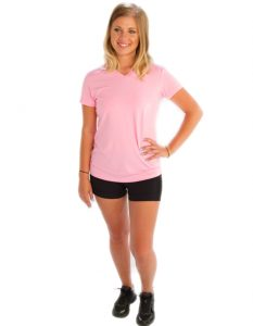 Buy Baby Pink V-Neck Tees for Women From Gym Clothes Store in USA & Canada