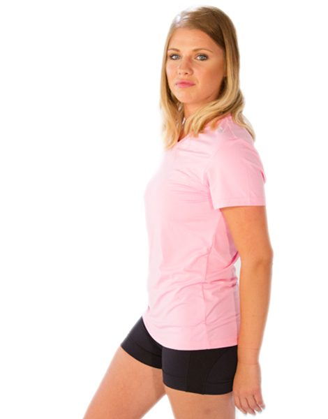 Wholesale Baby Pink V-Neck Tees For Women From Gym Clothes