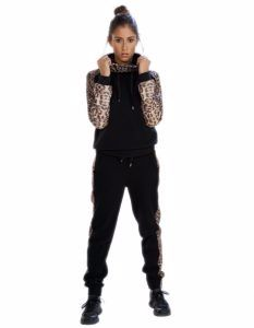 Buy Black Printed Track Pants for Women From Gym Clothes Store in USA & Canada
