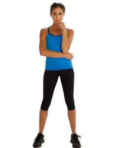 Buy Black Stylish Three Quarter Gym Leggings From Gym Clothes Store in USA & Canada