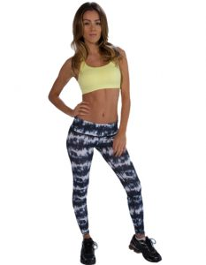 Buy Blue And White Leggings for Women From Gym Clothes Store in USA & Canada