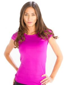 Buy Cap Sleeve Bright Pink Tees for Women From Gym Clothes Store in USA & Canada
