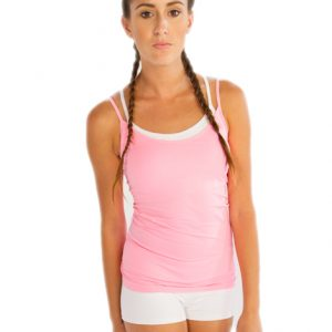 pink womens gym tank tops