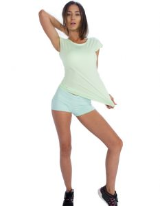 Buy Comfy Cool Cap Sleeve Gym Tee From Gym Clothes Store in USA & Canada