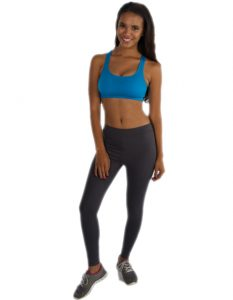 Buy Funky Aqua Blue Sports Bra From Gym Clothes Store in USA & Canada