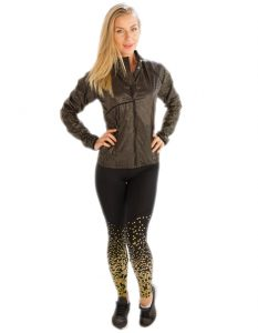Buy Greyish Black Chic Metallic Jacket for Women From Gym Clothes Store in USA & Canada