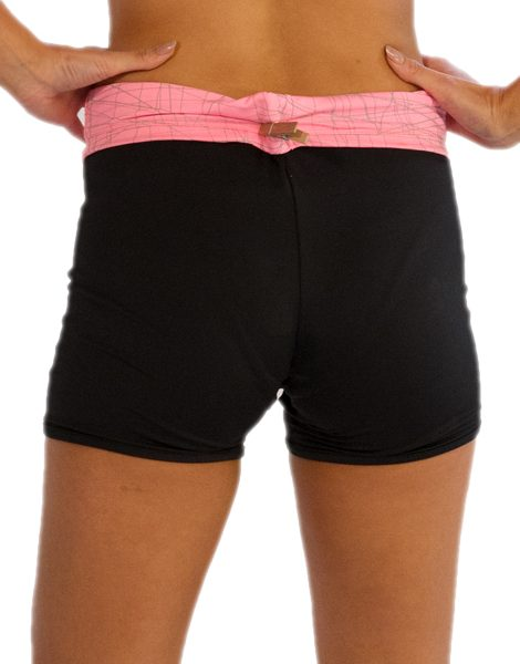 Buy Ladies Black Shorts With Pink Waistband From USA Online Store