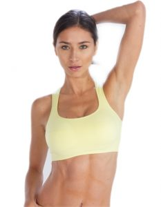 Buy Lemon Yellow Sports Bra From Gym Clothes Store in USA & Canada