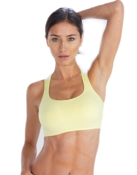 Buy Lemon Yellow Sports Bra From USA Online Store