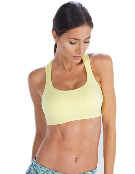 Lemon Yellow Sports Bra