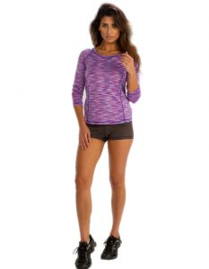 Buy Mauve Abstract Printed Tee From Gym Clothes Store in USA & Canada