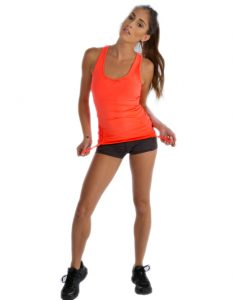 Buy Peach – Orange Tank Tee for Women From Gym Clothes Store in USA & Canada