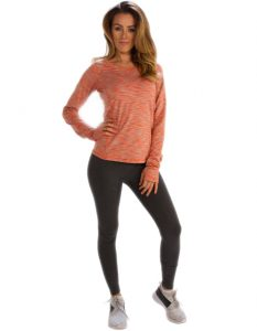 Buy Peach Light Orange Women Full Sleeve Tee From Gym Clothes Store in USA & Canada