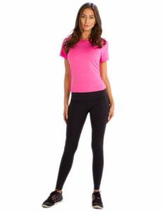 Buy Pretty Pink Half Sleeve Tee From Gym Clothes Store in USA & Canada