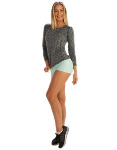 Buy Self-Patterned Full Sleeve Tee From Gym Clothes Store in USA & Canada