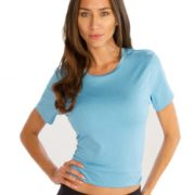Sky Blue Crop Tees for Women