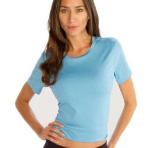 Sky Blue Crop Tees for Women