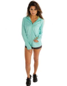 Buy Sky Hooded Jacket for Women From Gym Clothes Store in USA & Canada