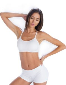 Soothing White Cool Gym Shorts for Women Online