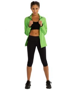 Buy Vibrant Green Jacket for Women From Gym Clothes Store in USA & Canada