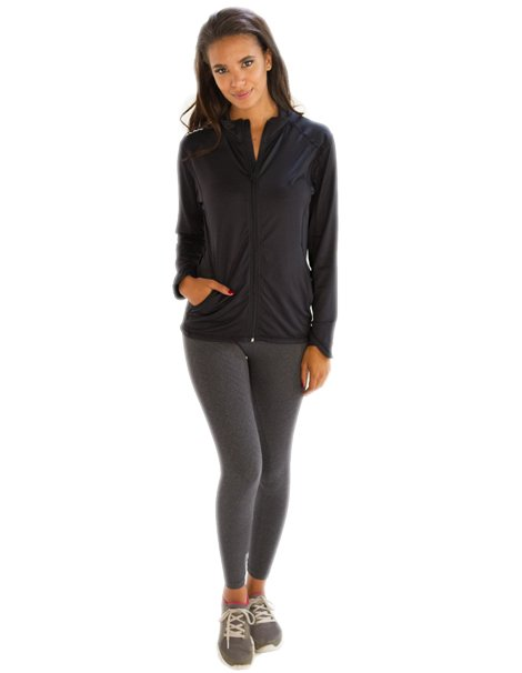 d1fa3a341c8 Wholesale Voguish Matte Finish Black Jacket for Women From Gym Clothes