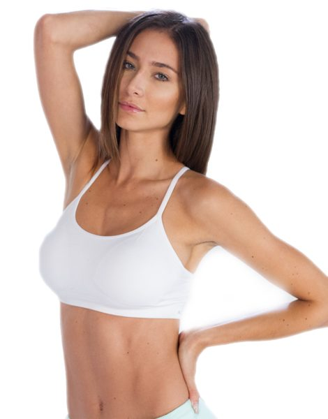fc8dc1240c8b2 Wholesale White Sleek Sports Bra for Women From Gym Clothes