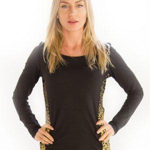 Womens Black Printed Snazzy TShirt