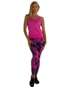 Buy Women's Self-Patterned Bright Pink Tank Tee From Gym Clothes Store in USA & Canada
