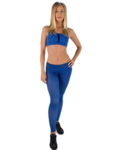 Buy Womens Aqua Blue Tights With Light Motifs From Gym Clothes Store in USA & Canada