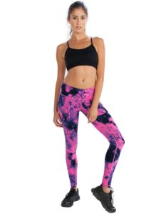 Buy Womens Bright Pink Black and Dark Blue Leggings From Gym Clothes Store in USA & Canada