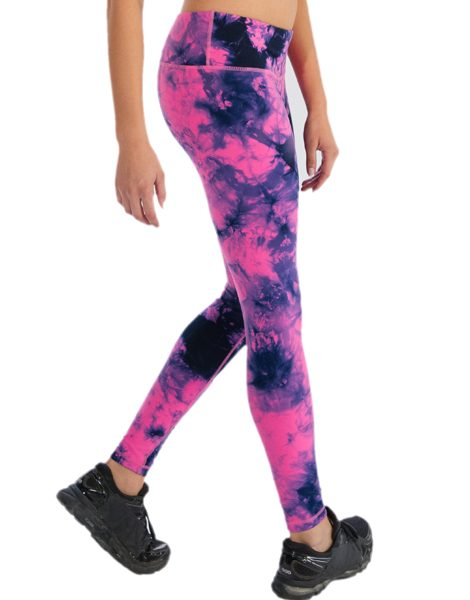 Wholesale Womens Bright Pink Black and Dark Blue Leggings From Gym Clothes