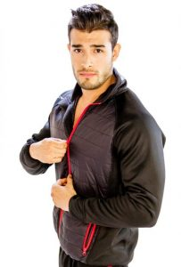 black jacket with red borders manufacturer