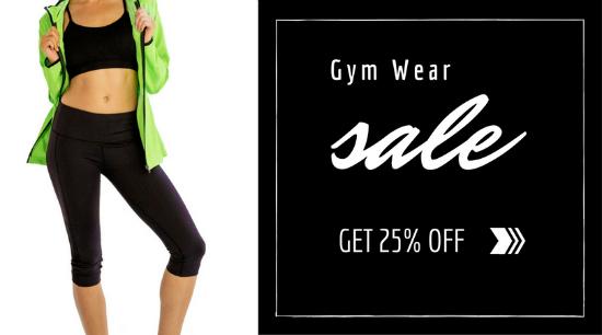 gym gear sale