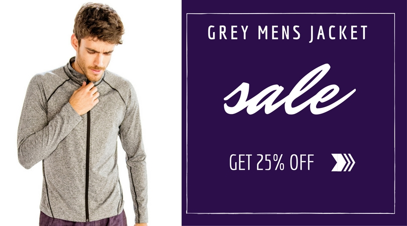 Soft Grey Mens Jacket